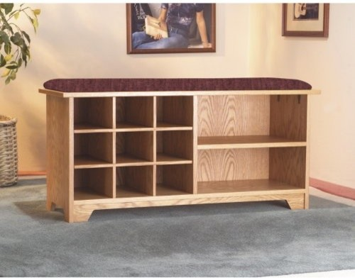 Duplex Cubby Storage Bench traditional-benches