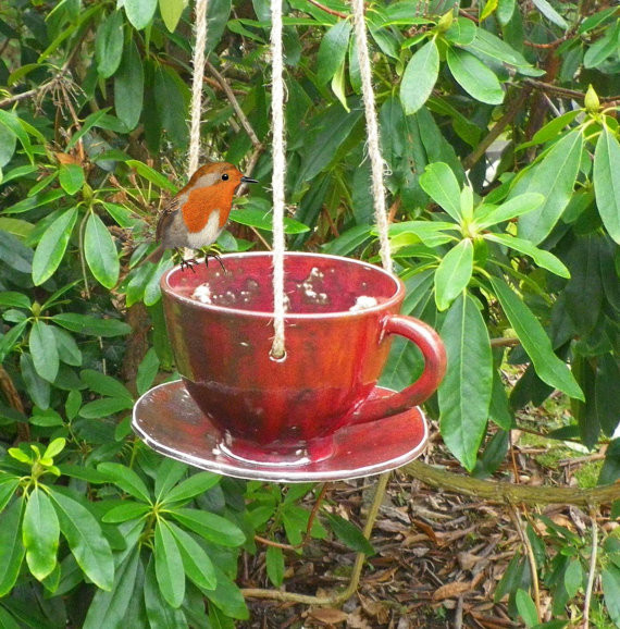 Bird Feeder In Stoneware By Caractacus Pots eclectic-bird-feeders