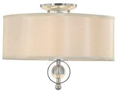 Golden Lighting Modern Two-Light Flush Mount Ceiling Fixture contemporary-flush-mount-ceiling-lighting