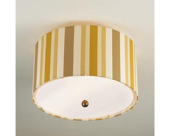Gold Stripe Shade Ceiling Light -
