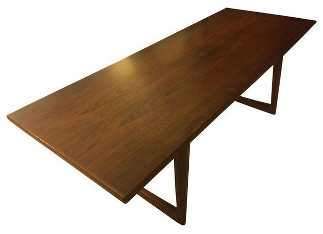 Used Mid Century Danish Rosewood Sleigh Coffee Table Modern Coffee Tables By Chairish