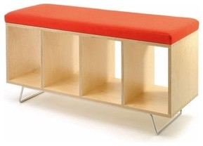 Bench Box with Legs - Upholstered Seat | Offi modern-lifestyle-and-leisure