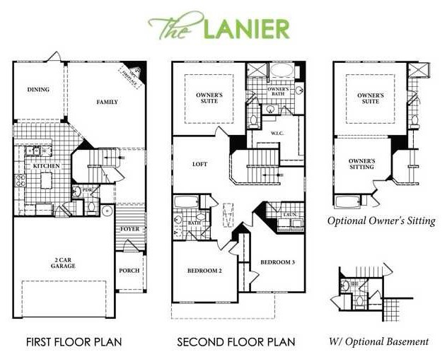 Rosewood park traditional floor plan atlanta by for Rosewood house plan