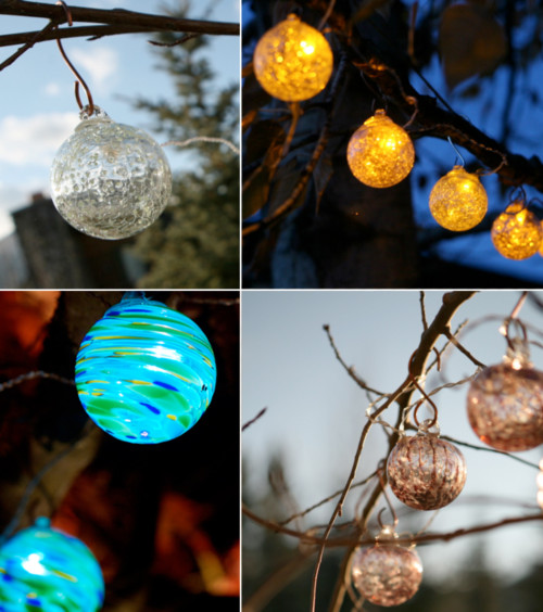 Aurora Glow Solar String Lights contemporary outdoor lighting