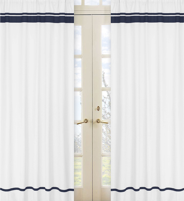 Navy And Beige Curtains Navy Cafe Curtains
