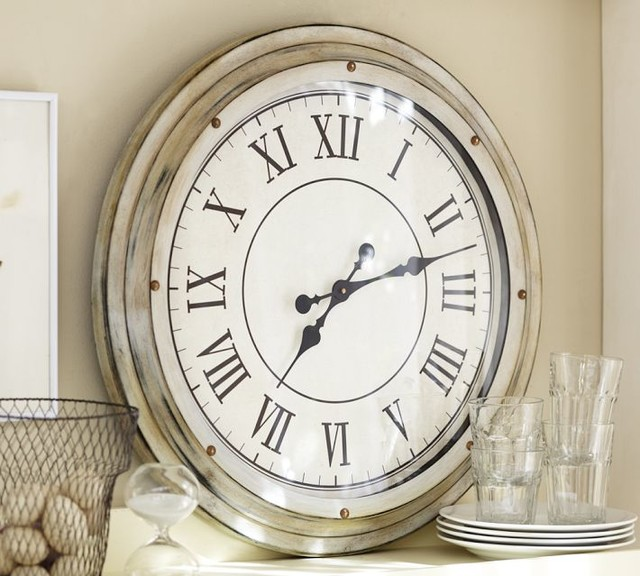 White Station Clock Traditional Clocks By Pottery Barn