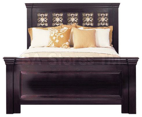 Florence Dark Mahogany Bed transitional-beds
