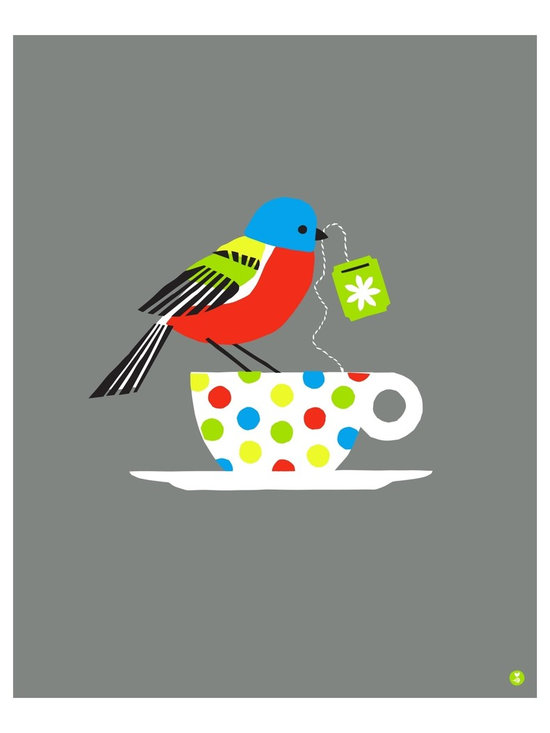 """""""painted bunting large limited edition print"""" Artwork - painted bunting is a limited edition handmade screen print on heavy, titanium white archival paper. print measures 16"""" x 20"""" (40.6 cm x 50.8 cm), and sits beautifully within the common frame size of the same (16 x 20 in or 61 x 45.7 cm). second edition of 125."""