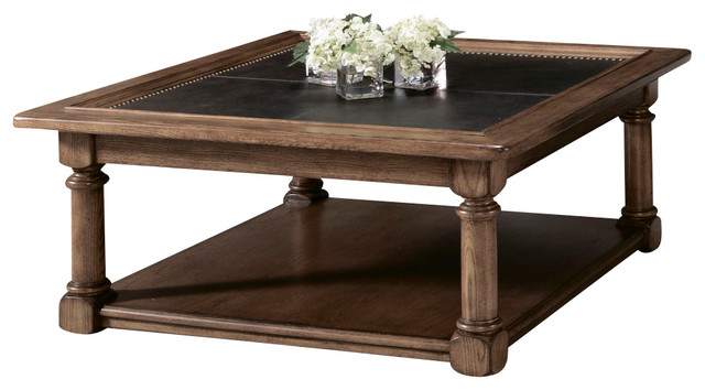 American Drew Americana Home Square Cocktail Table In Warm Oak Traditional Coffee Tables