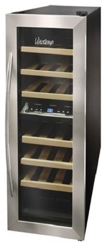 Vinotemp VT-21TEDS-2Z 21 Bottle Thermoelectric Wine Cooler / Fridge modern-kitchen-cabinetry