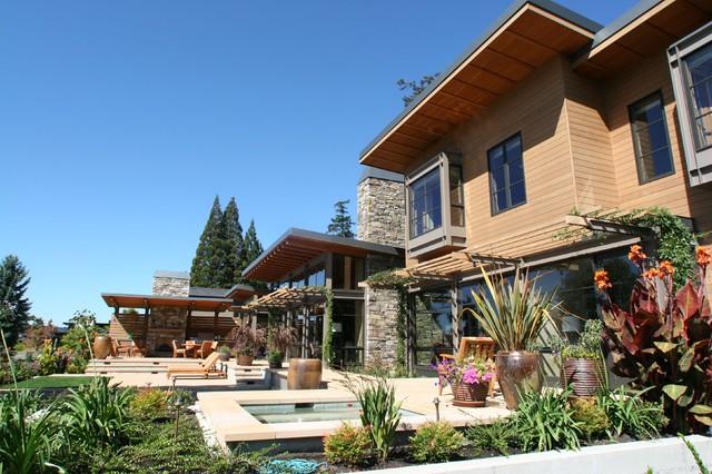 Lake House One - Exterior contemporary-landscape