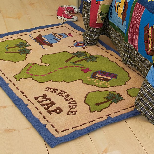 Treasure Map Rug Rugs