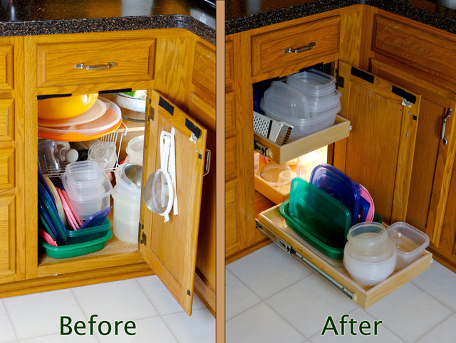 Blind Corner Cabinet Solution - Kitchen Drawer Organizers - indianapolis - by ShelfGenie of Indiana