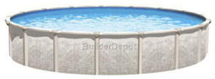 """Magnus 18' Round 54"""" Hybrid Pool with 7"""" Top Ledge modern-hot-tub-and-pool-supplies"""