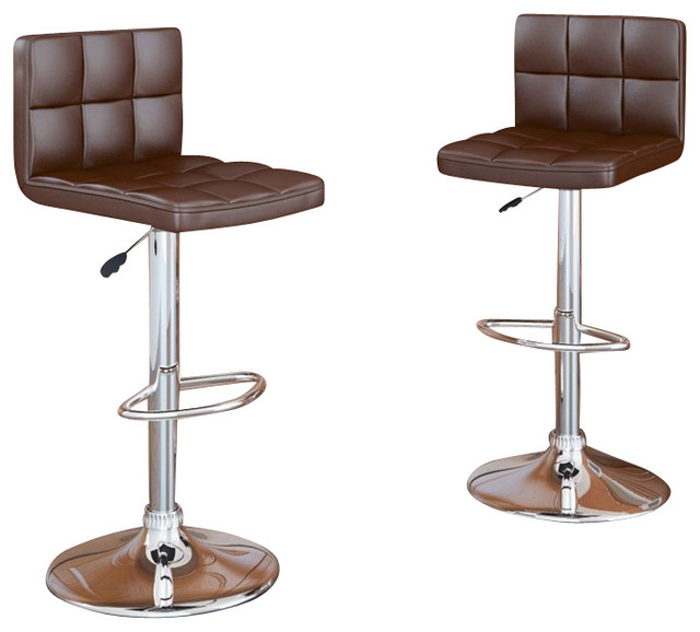 Sonax CorLiving High Back Bar Stool In Brown Leatherette Set Of 2 Transit