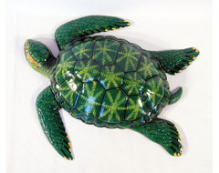 Tropical Green Sea Turtle Beach Tiki Bath Kids Wall Decor tropical-kids-decor