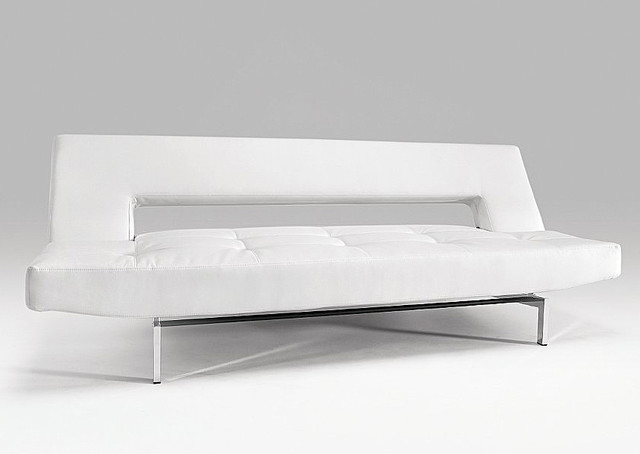 Wing White Leather Textile Sofa Bed - Modern - Futons - by Dexter ...