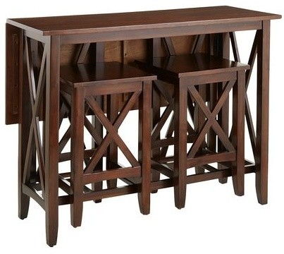 Kenzie Breakfast Table Set Contemporary Indoor Pub And