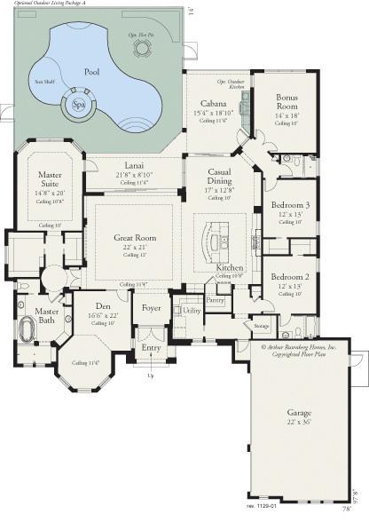Bermuda 1129 Floor Plan Tampa By Arthur Rutenberg Homes