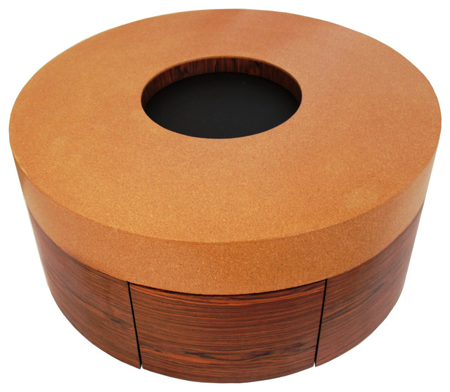 Kid Friendly Custom Cork and Wood Veneer Coffee Table contemporary-coffee-tables