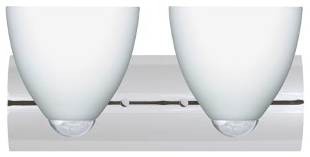 Sasha II Polished Nickel Two-Light Bath Fixture with Opal Matte Glass contemporary-bathroom-lighting-and-vanity-lighting