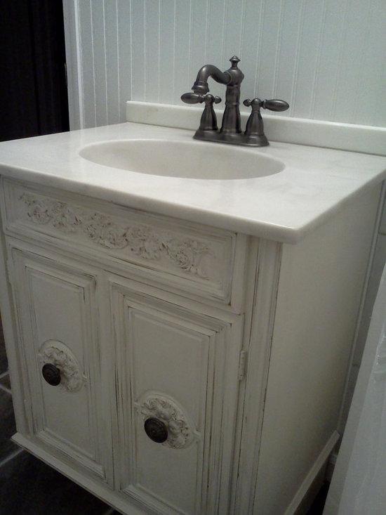 Reclaimed Things - White Carrara Marble Vanity - Reclaimed Things