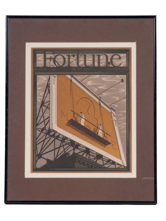 Fortune Print in Black Frame - May 1937 - $99 Est. Retail - $49 on Chairish.com -