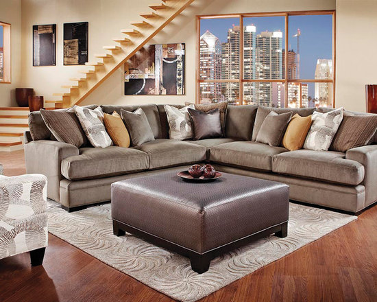 Granite Upholstered 3-Piece Sectional -