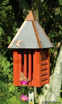 Heartwood Flutterbye House & Pole traditional-birdhouses