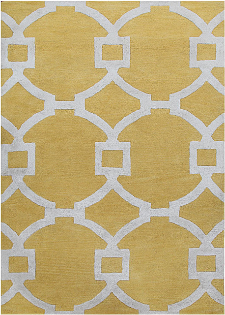 jaipur city regency bright yellow white 8 39 x 11 39 rug contemporary area rugs by plushrugs. Black Bedroom Furniture Sets. Home Design Ideas