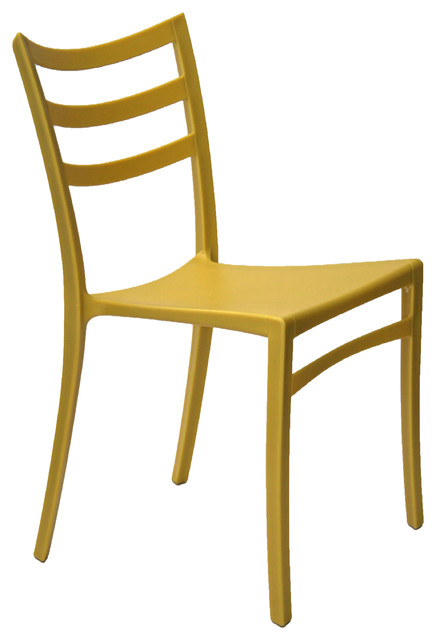 Stackable modern chair yellow contemporary outdoor for Modern yellow dining chairs