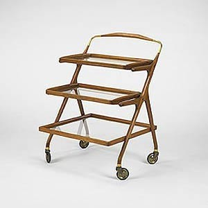 mid century modern bar serving cart cesare lacca made in italy modern bar carts new york. Black Bedroom Furniture Sets. Home Design Ideas