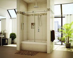 frameless sliding shower door system modern showers