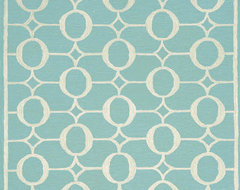 Arabesque Aqua Area Rug contemporary outdoor rugs