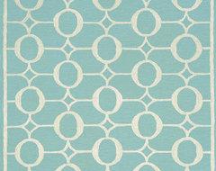 Arabesque Aqua Area Rug contemporary-outdoor-rugs