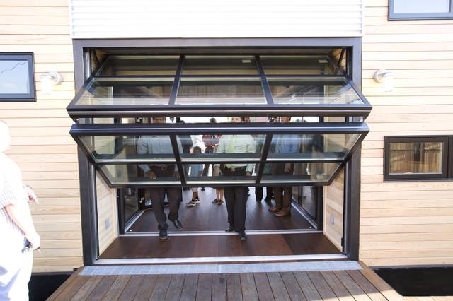 Contemporary garage doors for Garage style kitchen window