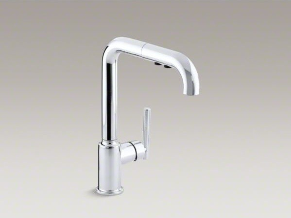 kohler purist r single hole kitchen sink faucet with 8