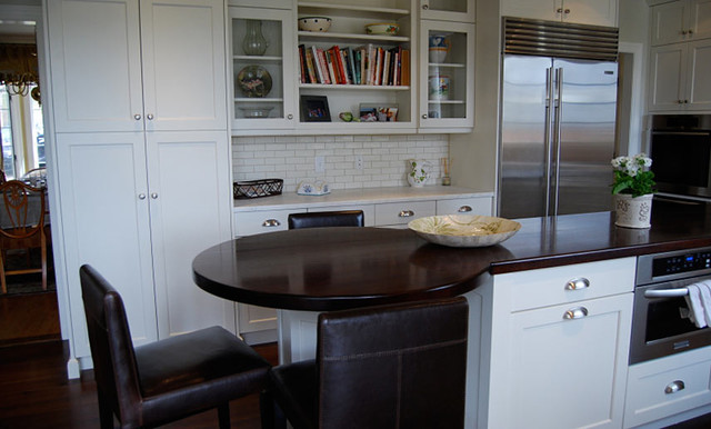 Walnut Wood Kitchen Island Countertop by Grothouse contemporary-kitchen-countertops