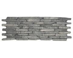 Grey Standing Mosaic Tile rustic-mosaic-tile