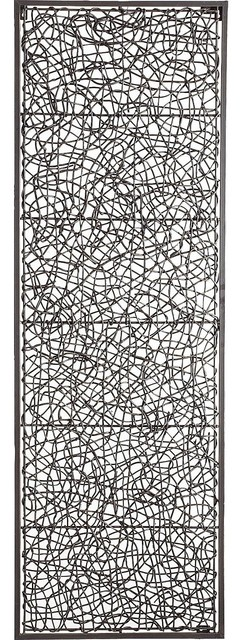 Metal & Rattan Wall Décor - Contemporary - Artwork - by ...
