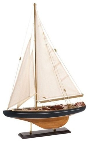 Classic Wooden Sailing Ship Model traditional-kids-decor