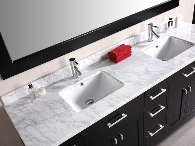 "78"" London Double Sink Vanity - Espresso (DEC088) modern"