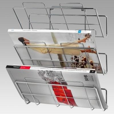 Wall Mount 3-Tier Magazine / File Rack modern-magazine-racks