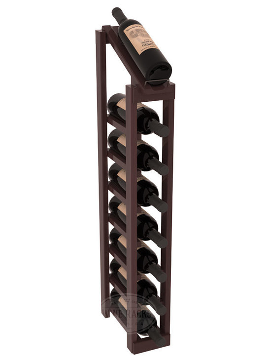 Wine Racks America - 1 Column 8 Row Display Top Kit in Redwood, Walnut Stain + Satin Finish - Make your best vintage the focal point of your cellar or store. The slim design is a perfect fit for almost any space. Our wine cellar kits are constructed to industry-leading standards. You'll be satisfied. We guarantee it. Display top wine racks are perfect for commercial or residential environments.