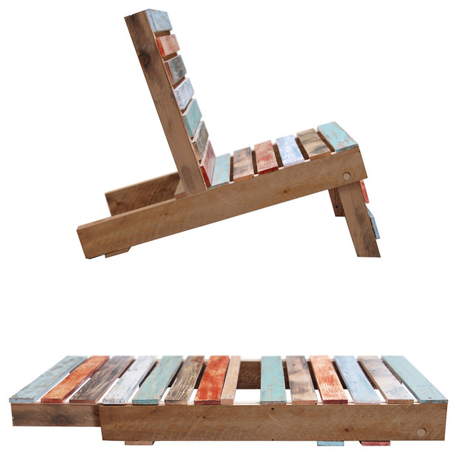 Magnetic Pallet Chair Eclectic Outdoor Lounge Chairs by Un monGoods