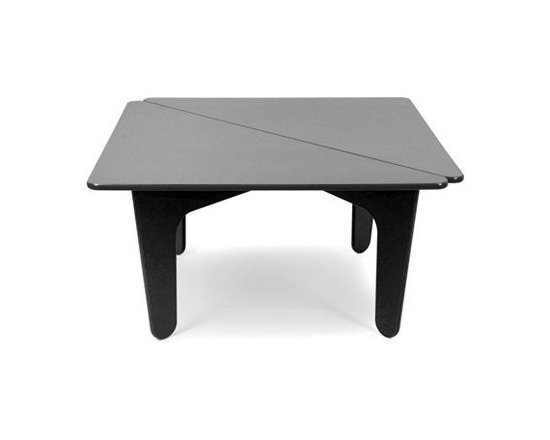 notNeutral BBO2 Table - notNeutral has teamed up with Loll Designs of Minnesota to create an outdoor version of the BB2 collection, with a square table, now called BBO2. Loll is an outdoor furniture producer of contemporary, durable all-weather furniture.