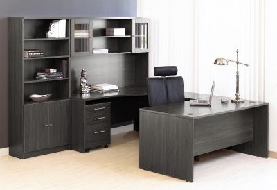 The Ergo Office Managers Desk With Hutch And Bookcase