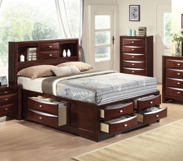 Acme Furniture  Ireland Espresso Finish Eastern King Bed