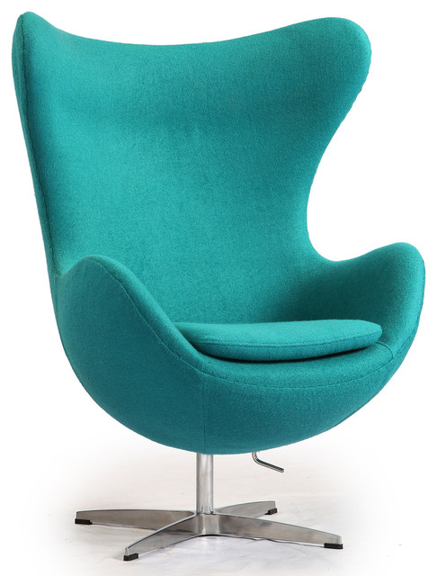 Kardiel Egg Chair, Turquoise Boucle Cashmere Wool - Modern ...