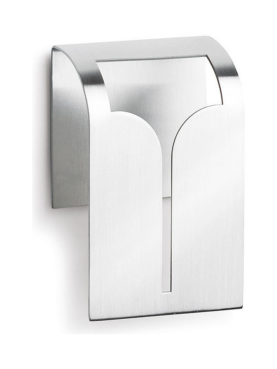 Blomus - Bogo Towel Clip - Matte-finished stainless steel. Self adhesive. Door plate with black imprint.